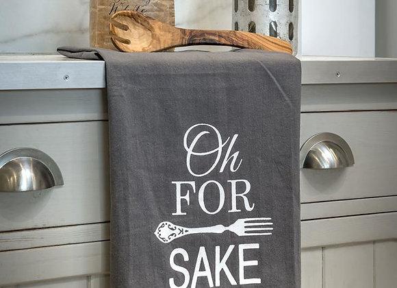Funny slogan tea towel