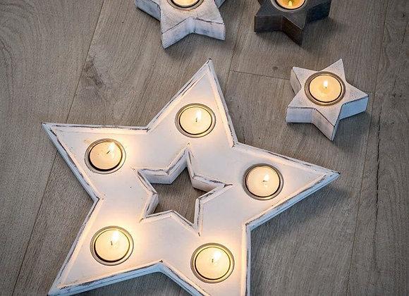 Imperfect 5 star tea light holder