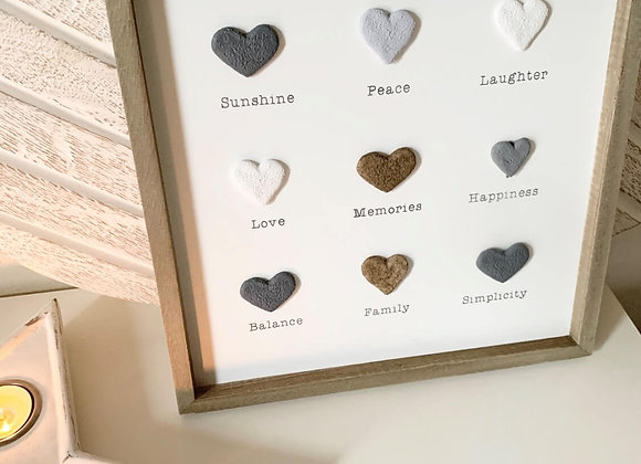 Wooden wall plaque