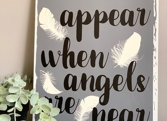 Feathers appear sign