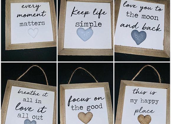 Mini hanging simplicity plaques