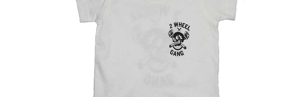2 Wheel Gang Kids Tee(White)