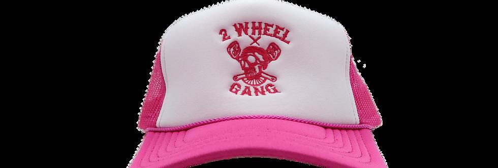 2 Wheel Gang Trucker(Pink/White)