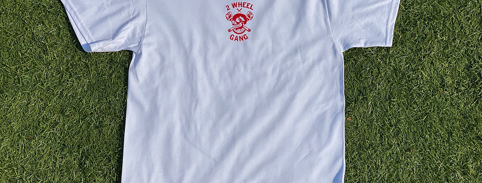 2 Wheel Gang Tee(White/Red)