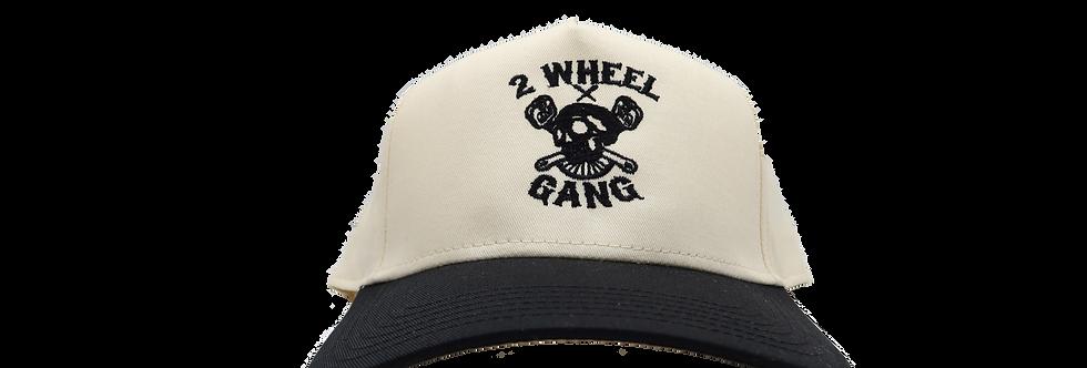 2 Wheel Gang Snap Back(Black/Off White)