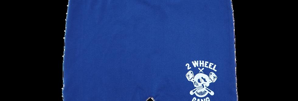 2 Wheel Gang Womans Spandex Shorts(Blue)