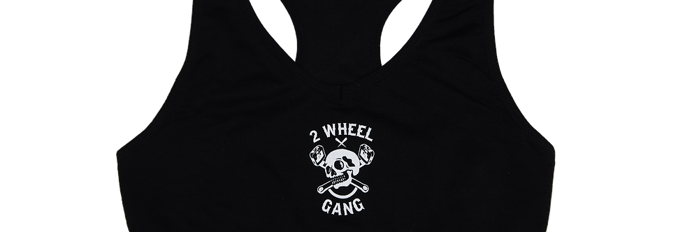 2 Wheel Gang Woman's Sports Bra(Black)