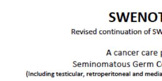 New protocol for seminoma  SWENOTECA IX