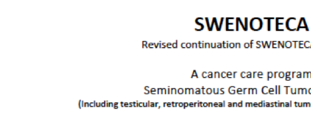 New protocol for seminoma  SWENOTECA IX