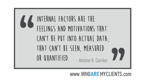 Quote #06 from the book Who Are My Clients by Antoine B. Carrière