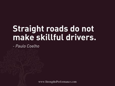 Straight roads = skillful drivers?