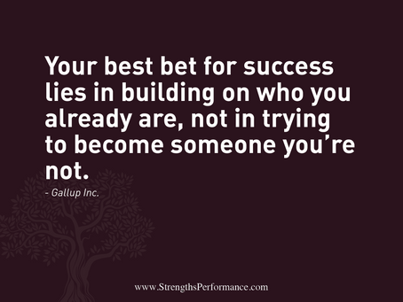 Build on who you already are