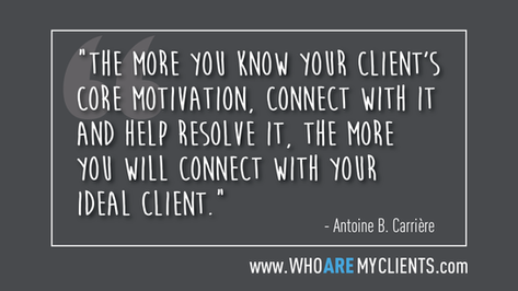 Quote #27 from the book Who Are My Clients by Antoine B. Carrière