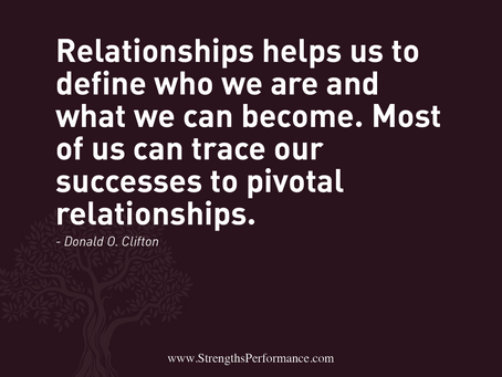 Relationships define who we are