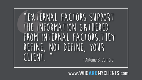 Quote #17 from the book Who Are My Clients by Antoine B. Carrière