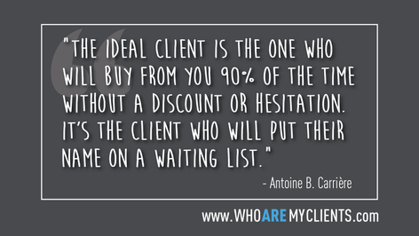 Quote #22 from the book Who Are My Clients by Antoine B. Carrière