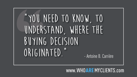 Quote #02 from the book Who Are My Clients by Antoine B. Carrière