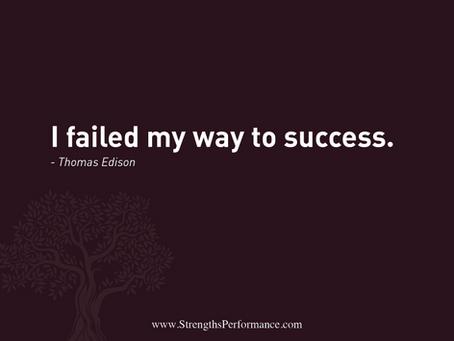 Failed my way to success.