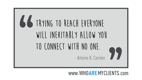 Quote #21 from the book Who Are My Clients by Antoine B. Carrière
