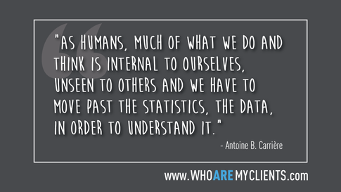 Quote #07 from the book Who Are My Clients by Antoine B. Carrière