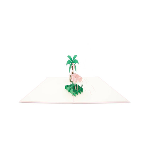 Flamingo mit Geschenken