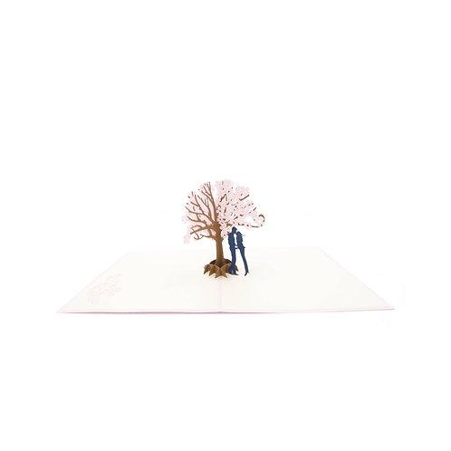 Kirschbaum mit Liebespaar
