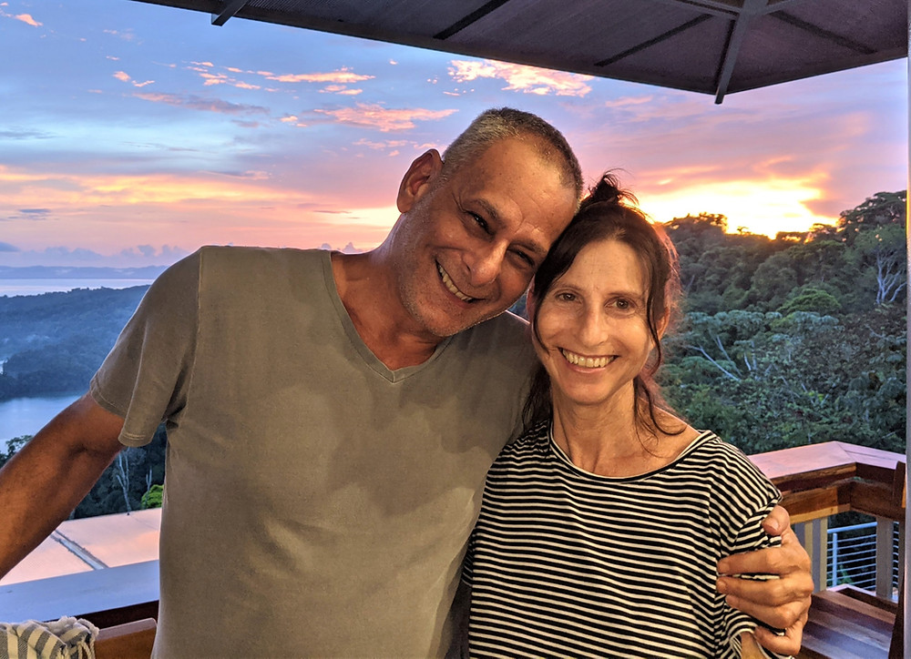 Keith and Nicole Goldstein at their lodge in Costa Rica.