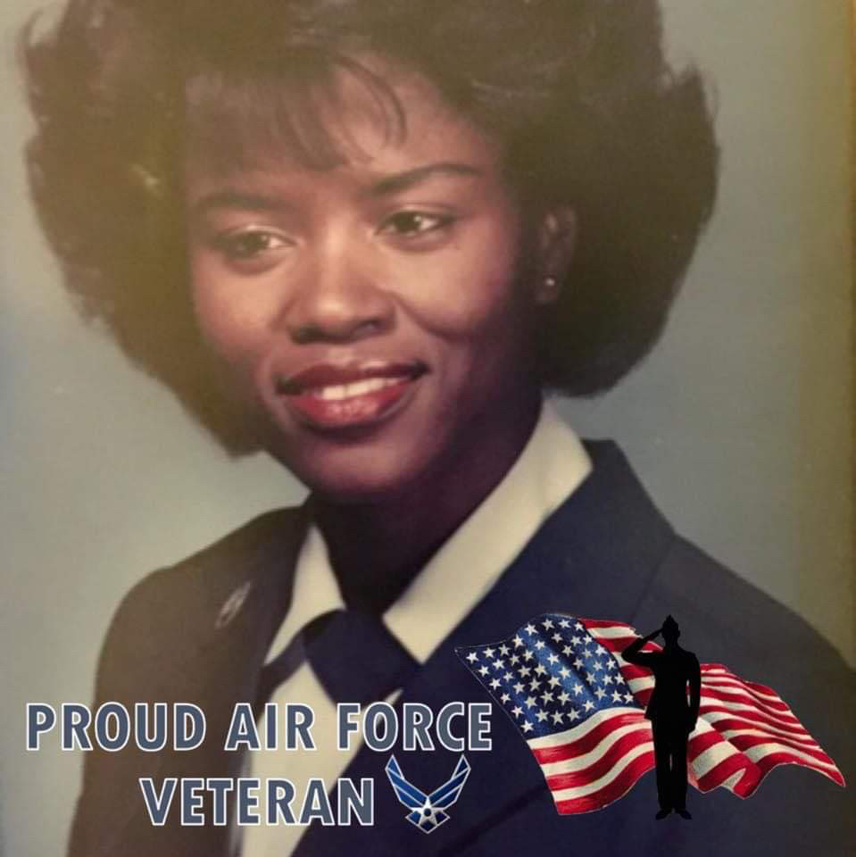 Vera Williams from her service in the Air Force in the 1980s