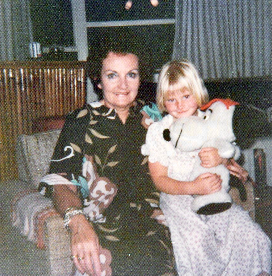 Joanne Taylor-Stagg with her grandmother