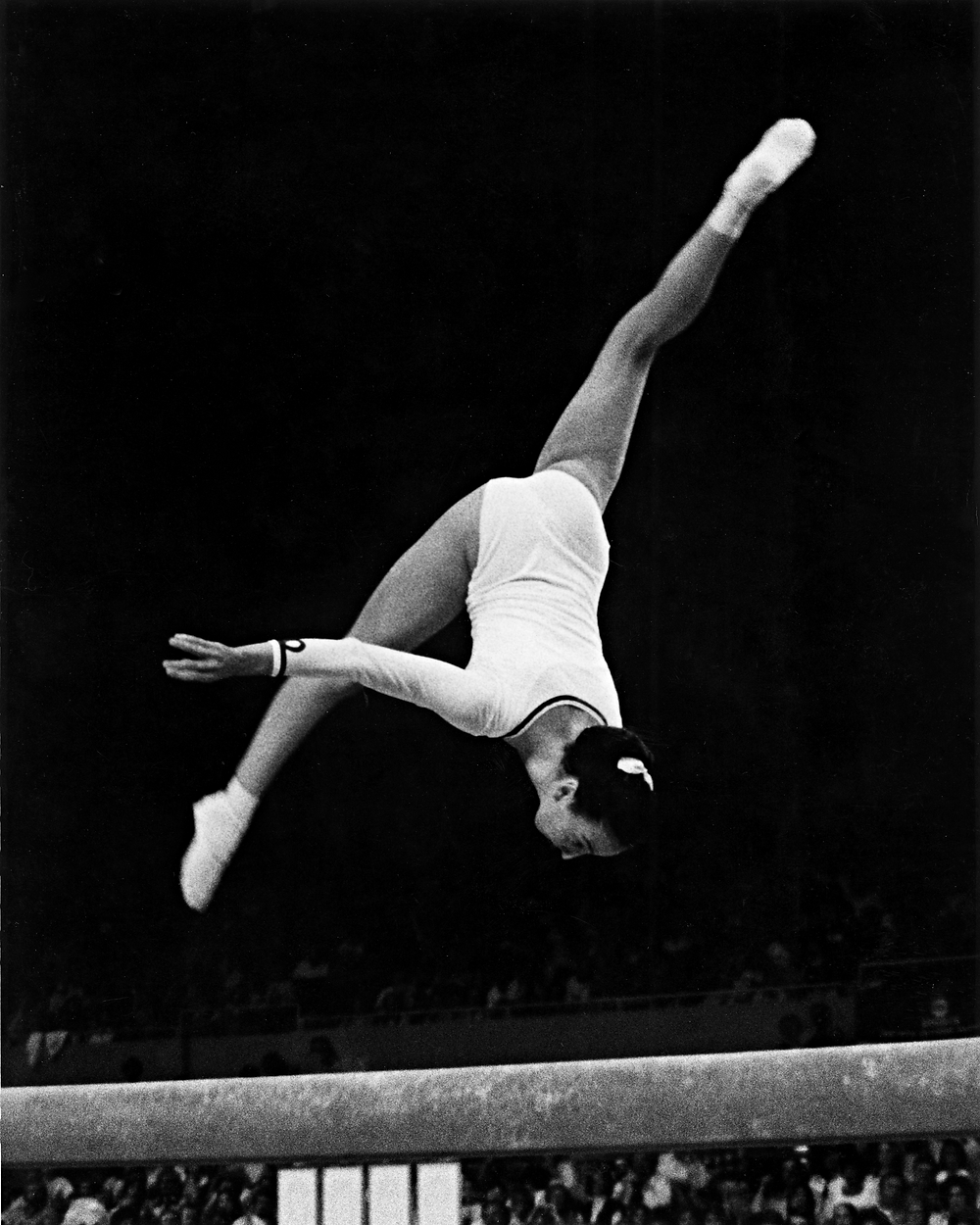 Carrie Englert at the 1976 Olympics in Montreal