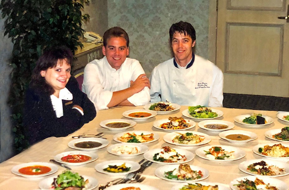 Jenny Lucas, Lou Carrier and Evan Percoco in 1998 at Loews L'Enfant Plaza