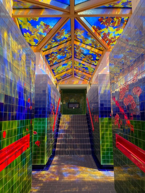 Stained glass at Beaverbrook by Brain Clarke