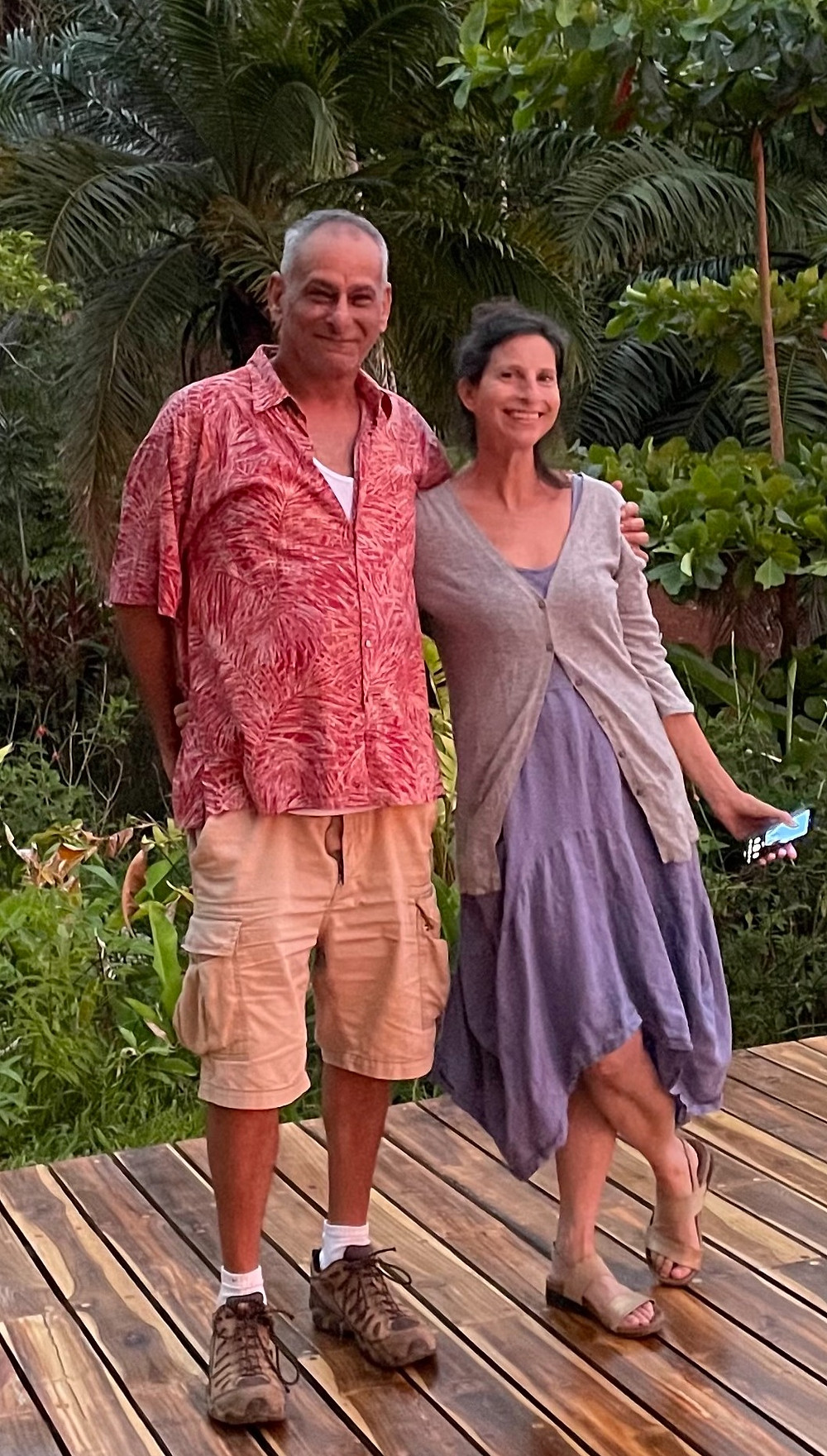 Nicole and Keith Goldstein, planning Cielo Lodge in Costa Rica.