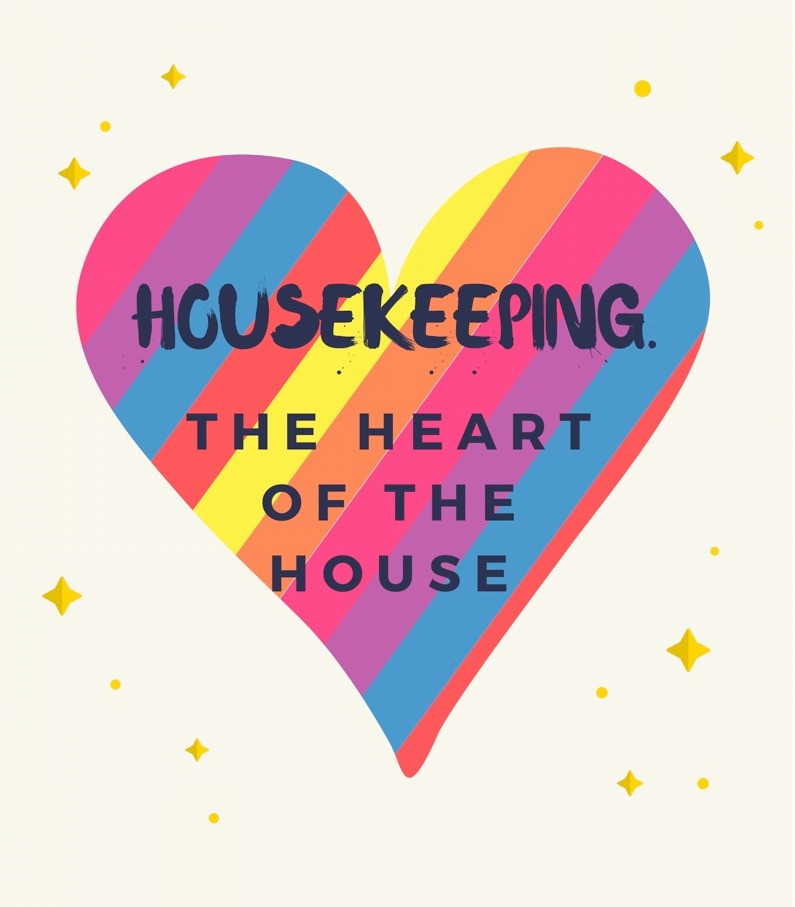 Graphic of a heart for hotel housekeepers