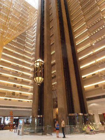 The iconic lobby at the Hyatt Regency Atlanta