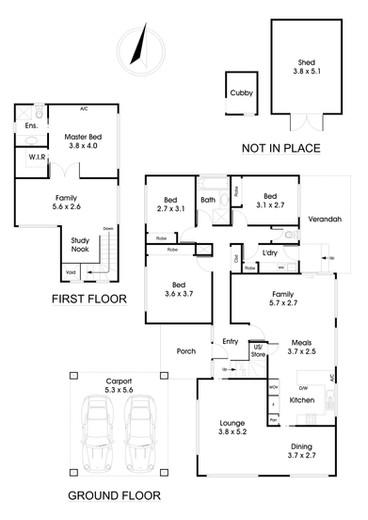 Black & White Floor Plan