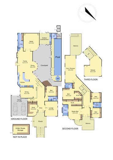 Floor Plan in Colour