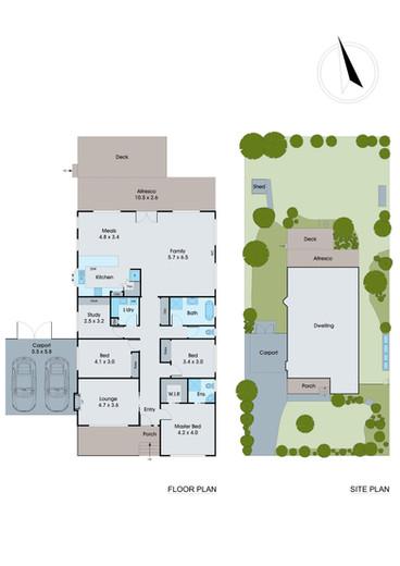 Floor & Site Plan in Colour