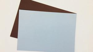 2枚の紙で作るメッセージカード!