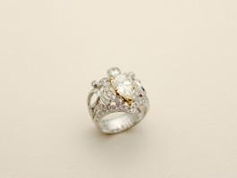 Pt950/K18YG 2.15ctペアシェイプイエローダイヤ ダイヤモンド