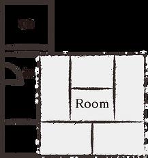6畳和室[禁煙](1名様)間取り図