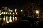 千波湖の夜景