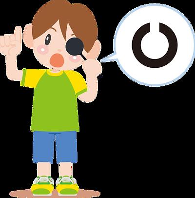 視力検査を受ける子供画像