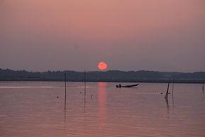 涸沼の絶景夕日