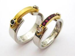 Mens Ring Pt900/K18YG サファイア Ladies Ring Pt900/K18YG ダイヤモンド・ルビー
