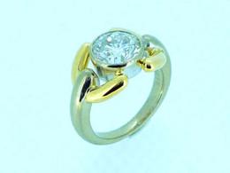 Pt900/K18YG ダイヤモンド
