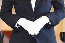 白手袋の写真