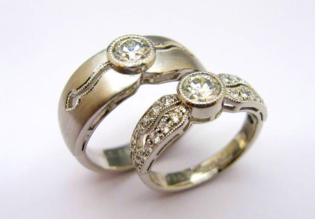 Mens Ring Pt900 ダイヤモンド Ladies Ring Pt900 ダイヤモンド