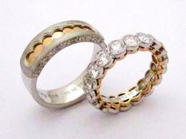 Mens Ring Pt900/K18YG ダイヤモンド Ladies Ring K18WG/YG ダイヤモンド エタニティ