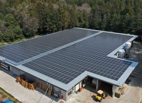 笠間分場自家消費型太陽光発電設備 発電開始